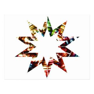 Star V2 - Sparkle Red Star Post Card