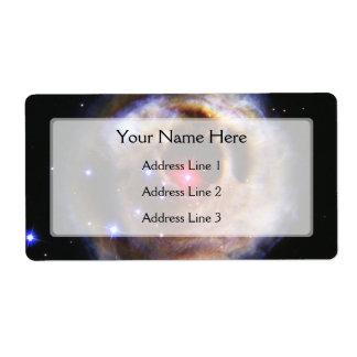 Star V838 Monocerotis (Hubble Telescope) Label