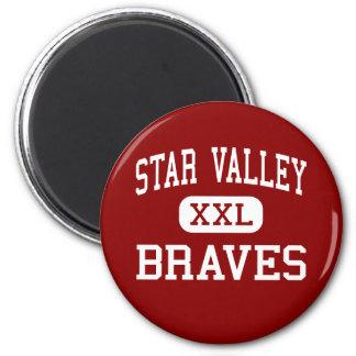 Star Valley - Braves - High School - Afton Wyoming Fridge Magnets