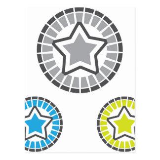 Star vector postcard