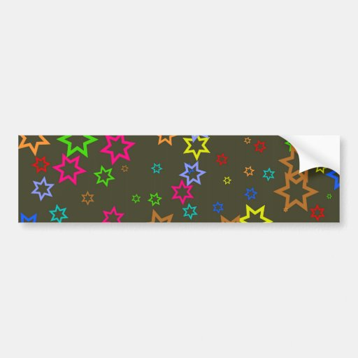 Star Wallpaper Car Bumper Sticker