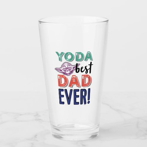 Star War | Yoda Best Dad Ever Glass