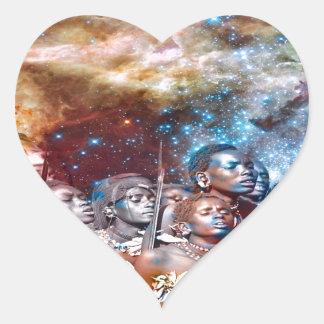 Star Warriors Heart Sticker