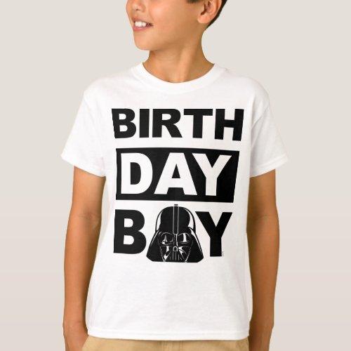 Star Wars Birthday Boy  Darth Vader _ Name  Age T_Shirt