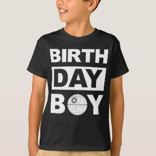 Star Wars Birthday Boy | Death Star - Name & Age T-Shirt