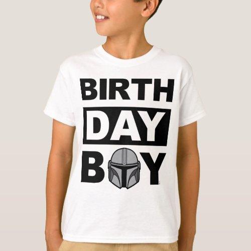 Star Wars Birthday Boy  Mandalorian _ Name  Age T_Shirt