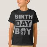 Star Wars Birthday Boy | Mandalorian - Name & Age T-Shirt