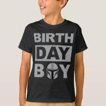 Star Wars Birthday Boy   Mandalorian - Name & Age T-Shirt