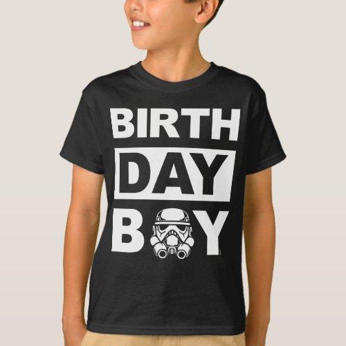 Star Wars Birthday Boy  Stormtrooper _ Name  Age T_Shirt