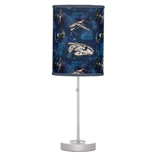 Star Wars   Blue Vehicle Classic Pattern Table Lamp