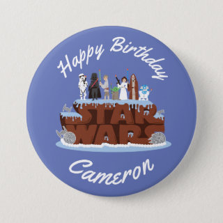 Star Wars Characters Birthday Cake Button