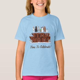 Star Wars Characters Birthday Cake T-Shirt