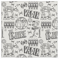 Star Wars | Galactic Empire Doodle Pattern Fabric