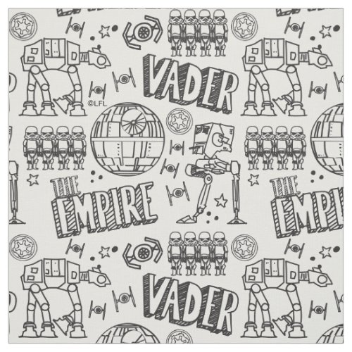Star Wars  Galactic Empire Doodle Pattern Fabric