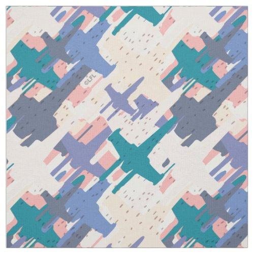 Star Wars  Green  Purple X_Wing Fleet Pattern Fabric