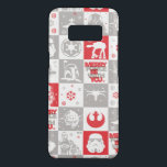 "Star Wars Holiday Icon Grid Pattern Case-Mate Samsung Galaxy S8 Case<br><div class=""desc"">Star Wars Holiday 