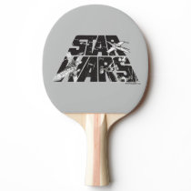 Star Wars Logo   X-Wing & TIE Fighter Battle Ping Pong Paddle