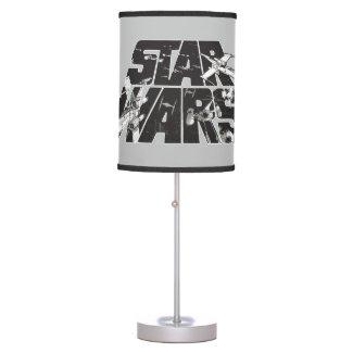 Star Wars Logo | X-Wing & TIE Fighter Battle Table Lamp