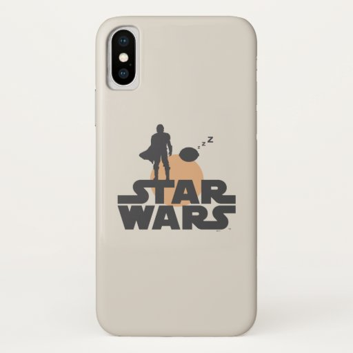Star Wars Mandalorian Dark Outline Title Zs iPhone X Case