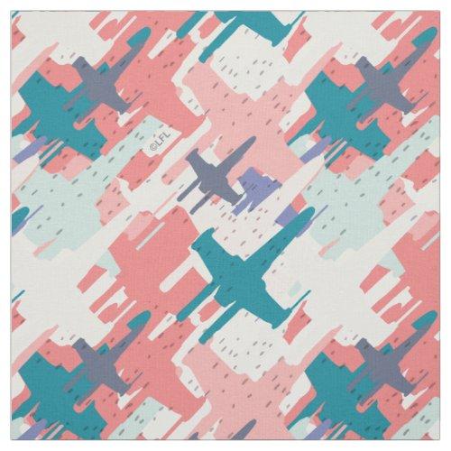 Star Wars  Pink  Green X_Wing Fleet Pattern Fabric