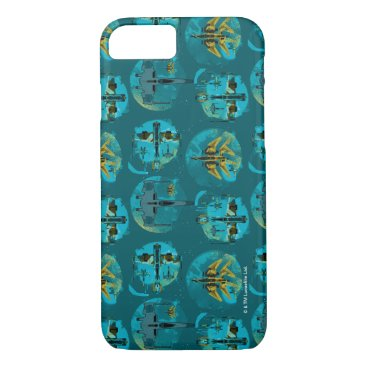 Star Wars Resistance   Teal Ace Fighters Pattern iPhone 8/7 Case