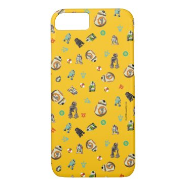 Star Wars Resistance   Yellow Droids Pattern iPhone 8/7 Case