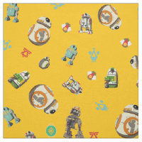 Star Wars Resistance | Yellow Droids Pattern Fabric