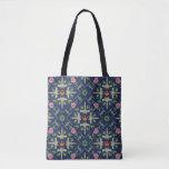 Star Wars Symbols & Vehicles Floral Pattern Tote Bag