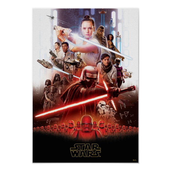 Star Wars The Rise Of Skywalker Theatrical Art Poster Zazzle Com