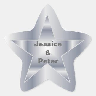 Star Wedding Sticker