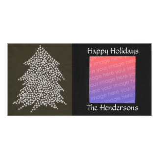 Star White Christmas Tree Personalized Photo Cards