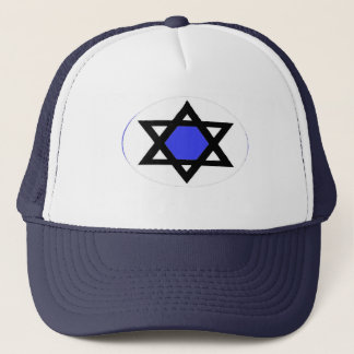 STAR WITH BLUE TRUCKER HAT