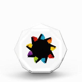 Star with colorful arrows acrylic award