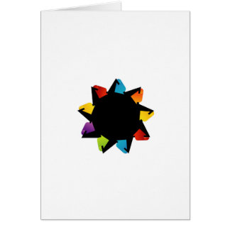 Star with colorful arrows card