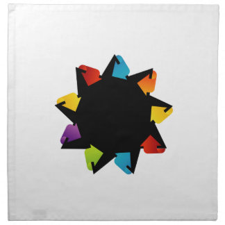 Star with colorful arrows cloth napkin