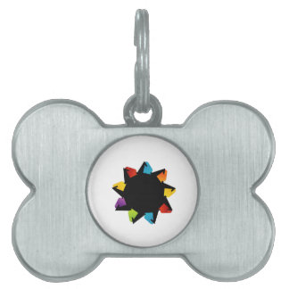 Star with colorful arrows pet name tag