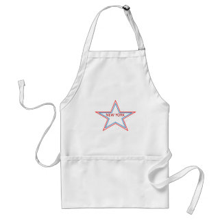 Star with New York in it. Adult Apron