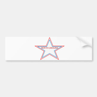 Star with North Carolina in it Bumper Stickers