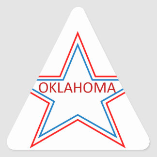 Star with Oklahoma in it. Triangle Sticker