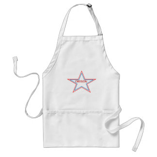 Star with Oregon in it. Adult Apron