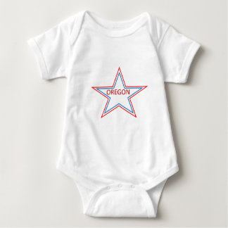 Star with Oregon in it. Baby Bodysuit