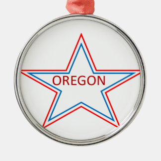 Star with Oregon in it. Metal Ornament