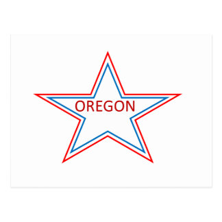 Star with Oregon in it. Postcard