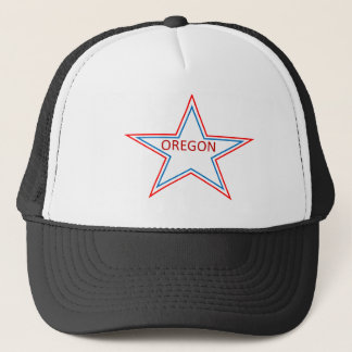 Star with Oregon in it. Trucker Hat
