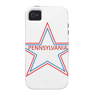 Star with pennsylvania in it iPhone 4/4S cases
