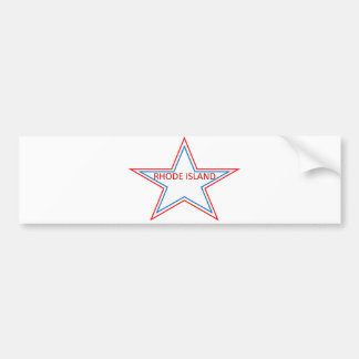 Star with Rhode Island in it. Bumper Sticker