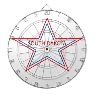 Star with South Dakota in it. Dart Board