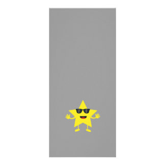 star with sunglasses rack card