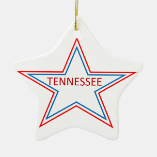 Star with Tennessee in it. Ceramic Ornament