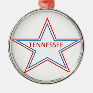Star with Tennessee in it. Metal Ornament